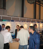 A busy stand at a Franchise Exhibition